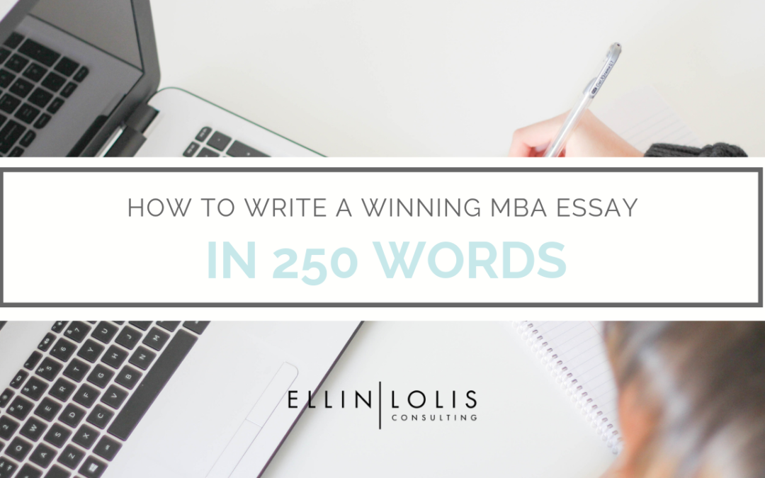 How to write a 250 word essay