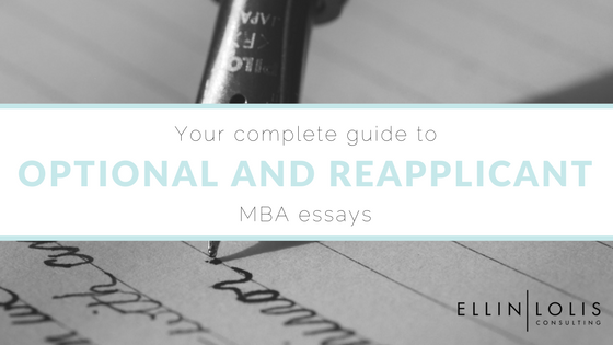Mba reapplicant essay