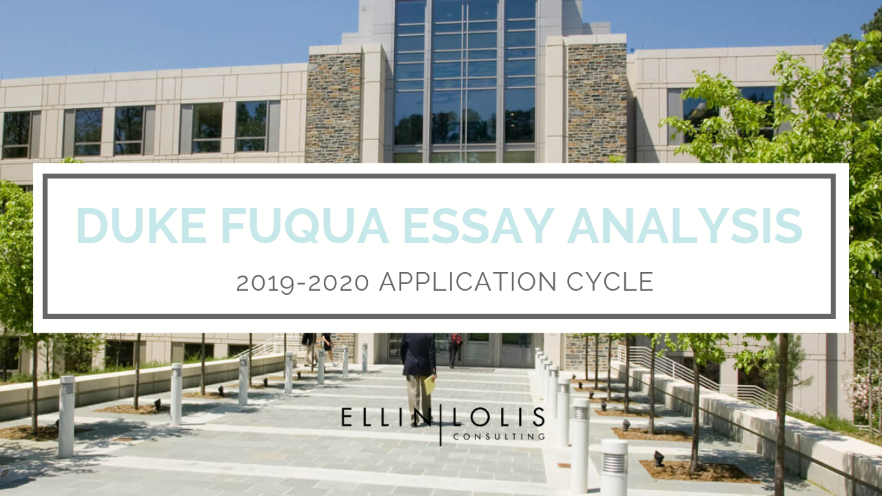 Duke essays