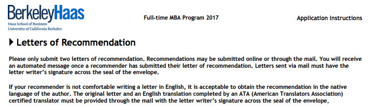 Letter Of Recommendation For Mba From Manager from ellinlolis.com