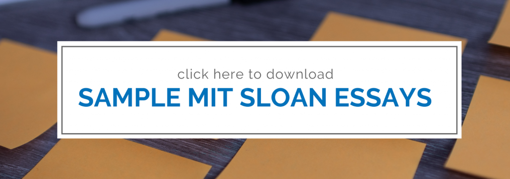 2019 2020 Mit Sloan Essay Analysis Sample Essays Included