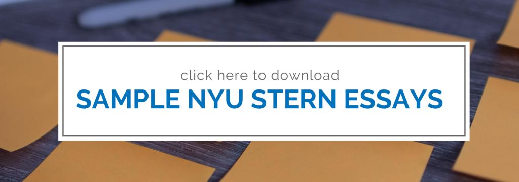 Nyu stern essay 1 sample sample of medical resume template